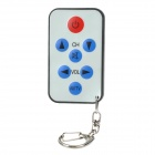 Mini Universal TV Remote Controller Keychain - Black + Beige (1 x CR2025)