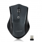 Aoni Canyon Jidian 107 Wireless Optical 1600dpi Mouse - Silver + Black (2 x AAA)