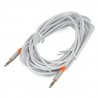 PowerSync 35-ERMM59 3.5mm Audio Male to Male transmission Cable - Silver + Orange + White (500cm)