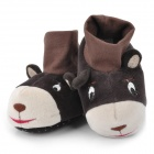 Cute Donkey Shaped Baby Cotton + Polyester Anti-Skid Warm Shoes - Beige + Dark Grey + Dark Brown