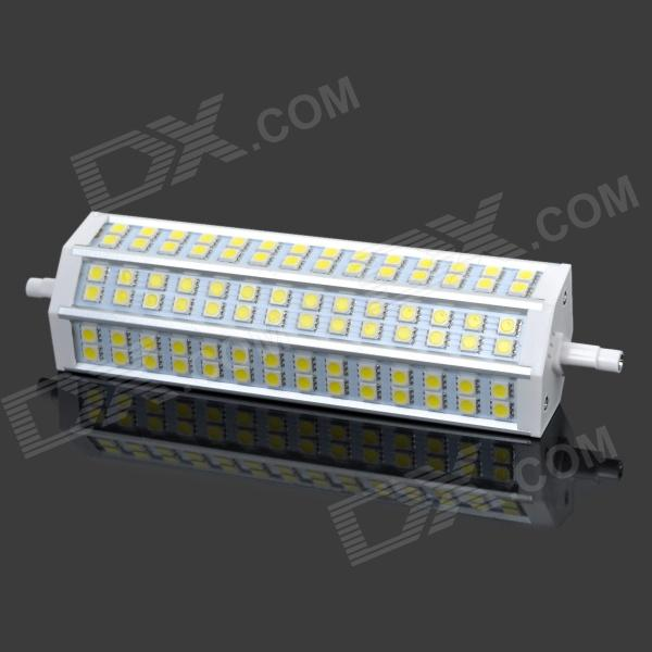 R7S 18W 1300~1350lm 6500K 84-SMD 5050 LED White Light Lamp - Yellow + Silver lexing lx r7s 2 5w 410lm 7000k 12 5730 smd white light project lamp beige silver ac 85 265v