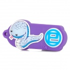 Zwölf Sternzeichen Snake Style USB 2.0 Flash Disk Device - Purple + Light Blue (4GB)