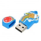 Twelve Zodiac Dragon Style USB 2.0 Flash Disk Device - Blue + Yellow (4GB)