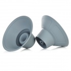 YSDX-596 Silicone Subwoofer Amplifier Speaker for iPod- Grey