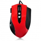 Aoni CANYON-XunLei 501 Wired 900 / 1800 / 3600dpi USB Game Red Laser Mouse - Red + Black