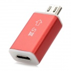 Micro USB 11-Pin Male to 5-Pin Female MHL HDTV Adapter Converter for Samsung Galaxy S3 i9300 - Red