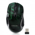 Aoni Canyon Jidian 112 Wireless Optical 1600dpi Mouse - Dark Green + Black (2 x AAA)