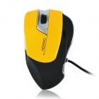 Aoni Xunlei 502 USB Wired Red Laser 800 / 1600dpi Game Mouse - Gelb + Schwarz (2,4 m)