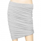 Screw Style Cotton + Polyester Fiber Half Skirt w/ Compression - Grey