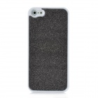 Fashion Glittery Loose Powder Coating Design Protective PC Back Case for iPhone 5 - Black