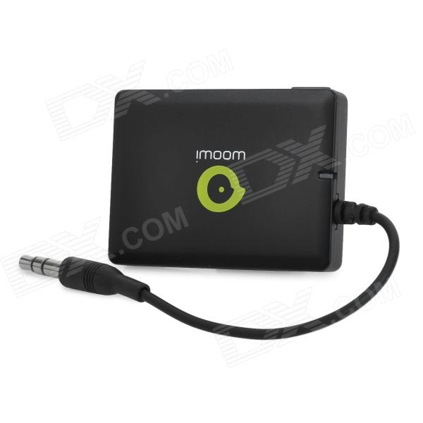 WOOWI BTTC005 Bluetooth V2.1+EDR Audio Transmitter Dongle - Black (3.5mm plug)Other Bluetooth Devices<br>Brand WOOWI Model BTTC005 Quantity 1 Color Black Bluetooth Version Bluetooth V2.1+EDR Operating Range 10 meter Compatibility Bluetooth stereo earphone and audio devices Microphone Yes Power Supply USB Built-in Battery Capacity 250mAh Other Features Bluetooth protocol: A2DP / AVRCP Working frequency: 2.4~2.4835GHz Receiving sensitivity: -80±4 dB Input voltage: DC 5V Suitable for any 3.5mm jack audio devices Supports apt-x technology Packing List 1 x Bluetooth transmitter dongle 1 x USB cable (120cm)<br>