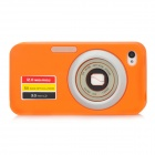 Camera 2 Style Protective Silicone Back Case for Iphone 4 / 4S - Orange