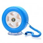 South Sunny AR5063 Creative Car Wheel Shape Wired Telephone w/ LED Light - Blue + White