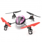 WLtoys 2.4G UFO 4-CH Remote Control Airplane - Purple + Black + Silver + Red (AA Batterie)