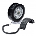South Sunny AR5063 Creative Car Wheel Shape Wired Telephone w/ LED Light - Black + Silver