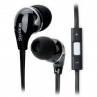 Senmai SM-IP203MV Stylish In-Ear Earphone w/ Microphone for Iphone / HTC / BlackBerry / LG - Black