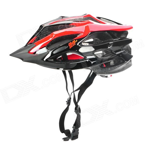 ACACIA Cool Sports EPS + PC Cycling Helmet - Red + Silver