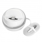 USB 8-Pin Lightning Data Sync & Charging Cradle Desktop-Dock für iPhone 5 / iPad Mini - White