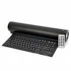 Foldable USB 2.0 90-Key Keyboard + Binaural Speaker w/ TF Card Slot & Remote Control - Black