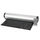MF Foldable USB 2.0 90-Key Keyboard + Binaural Speaker w/ TF Card Slot & Remote Control - Silver