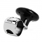 I-POP BD1023 Car Truck Aluminum Alloy Steering Wheel Spinner Knob Handle - Black + Silver