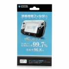 003 Protective Clear Screen Protectors w/ Cleaning Cloth for Wii U - Transparent Green