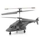 Udi U810 Rechargeable 3.5-CH IR Remote Controlled Projectile R/C Helicopter with Gyro - Silver Grey