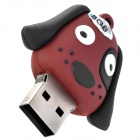 140 bonito o estilo do cão USB 2.0 Flash Drive - Coffee + Preto (8GB)