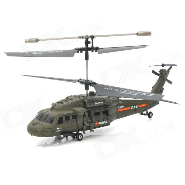Udi U811 Rechargeable 3.5-CH IR Remote Controlled R/C Helicopter with Gyro - Army Green
