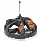 Udi U808 Rechargeable UFO Style IR Remote Controlled Inducted R/C Flying Toy w/ LED - Black