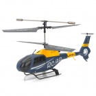Udi U812 Rechargeable 3.5-CH IR Remote Controlled R/C Helicopter with Gyro - Grey Blue + Yellow