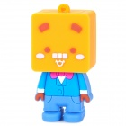128 Cartoon Style USB 2.0 Flash Drive - Orange + Blue (8GB)