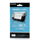 003 Protective Clear Screen Protectors w/ Cleaning Cloth for Wii U - Transparent