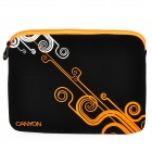 "Canyon NB21 Stylish Microfiber PU Leather Sleeve Bag for 10"" Laptop - Black + Orange"