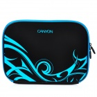 "Canyon NB21 Stylish Microfiber PU Leather Sleeve Bag for 10"" Laptop - Black + Blue"