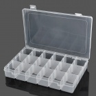 18-Compartment Free Combination Plastic Storage Box for Hardware Tools / Gadgets - Translucent White