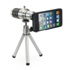 12x Zoom Telephoto Lens w/ TrIpod Mount + Back Case for Iphone 5 - Silver