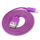 8 Pin Lightning Male to USB Male Data / Charge Cable for iPhone 5 - Purple (110cm)
