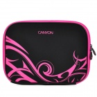 "Canyon NB20 Stylish Microfiber PU Leather Sleeve Bag for 10"" Laptop - Black + Deep Pink"