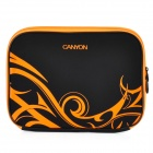 "Canyon NB20 Stilvolle Microfiber PU Leder Hülle Tasche für 10 ""Laptop - Black + Orange"