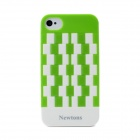Newtons Geometric Pattern Plastic Back Case for Iphone 4 / 4S - Green + White