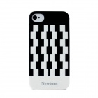 Newtons Geometric Pattern Plastic Back Case for Iphone 4 / 4S - Black + White