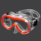 Fashion Toughened Glass Lens ABS Frame Diving / Swimming Glasses Goggles Mask - Red
