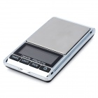 "Tragbare 1,9 ""LCD Precision Jewelry Digital Pocket Scale - Silber + Schwarz (200g / 0,01 g)"