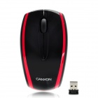 Aoni Canyon Jidian 105 Wireless Optical 800 / 1600dpi Mouse - Black + Red (2 x AAA)