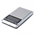 "Portable 1.9"" LCD Precision Jewelry Digital Pocket Scale - Silver + Black (300g / 0.01g)"