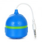 Rechargeable Mini Stereo Speaker for iPhone 5 + More - Blue (3.5mm Plug / 9cm-Cable)