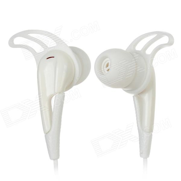 UNT-28 Retractable In-Ear Earphones for Iphone / Cellphone + More - White (3.5mm Plug / 120cm-Cable)