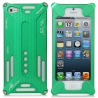 Transformers Design Protective Aluminum Alloy Back Cover Case for iPhone 5 - Green