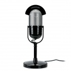 CY-509 Archaize Stil Desktop Microphone - Black + Silver (3,5 mm Klinkenstecker / 300cm-Kabel)